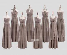 Convertible bridesmaid dresses chiffon bridesmaid by okbridal, $168.00