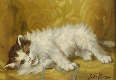 Jules Gustave Le Roy, Kitten Playing with a String