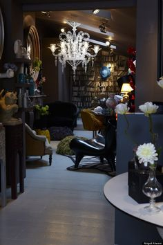 Abigail Ahern's Atelier store.....  i just love love love this woman's style