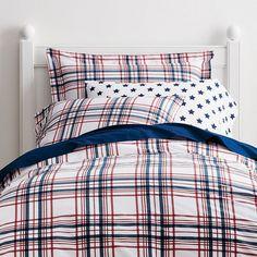 Ben de lisi home light grey world print map bedding set lexington plaid percale bedding gumiabroncs Images