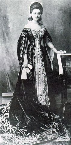 Russian Court dress. Lady-in-Waiting Olga Naryshkina in her Ceremonial Court…