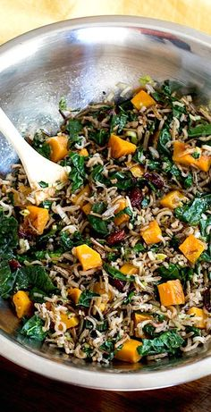 Wild Rice and Butternut Squash Salad with Maple Dressing | gluten-free, vegan