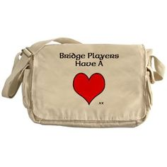 Messenger Bag> Bridge Players Have A Heart> Blueberry Bridge Play Bridge, Canvas Messenger Bag, Retro Look, Ranges, Bag Making, Cotton Canvas, Blueberry, Teaching, Heart