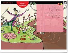 """Actividades digitales de Lengua Española. 6º de Primaria. Editorial La Galera"" Spanish Lessons, Learning Spanish, La Gale, Editorial, Teaching Resources, Interactive Activities, Spanish Language, Ice, Learn Spanish"