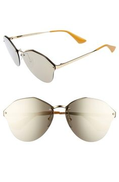 8b3550beef1 Free shipping and returns on Prada 66mm Oversize Rimless Sunglasses at  Nordstrom.com. An