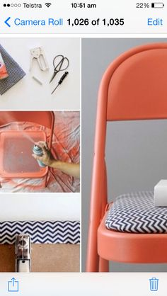 DIY chair - paint and cover