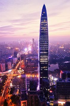 Shenzhen - one of the nine major cities in the Pearl River Delta, Guangdong, China