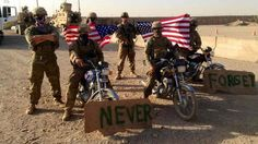 Soldiers in Afghanistan join in on the #2MBiker rally overseas.