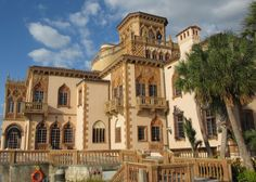 The decadent Ca' d'Zan Mansion, former home of John and Mable Ringling Sarasota, Florida.