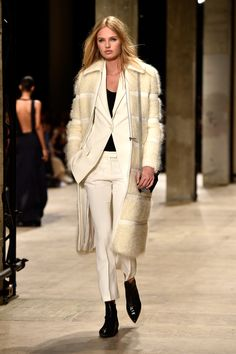 I would so rock this suit with heels and the coat well that's just Fab by itself!..........Highlights From Paris Fashion Week Fall 2015