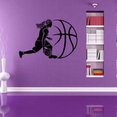 Basketball Decor Vinyl Mural Art