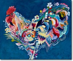 "Rooster ""El Jefe"" Starla Michelle print for Grandma Carolyn - Clearance $52"