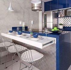 Cozinha AMERICANA pequena inspirações para casas e Aps | ta_Demais