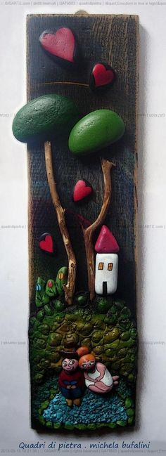 """Pebble Art Michela Bufalini - """"Emozioni in riva al lago&... @Gigarte.com"""