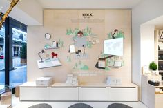 """An """"our story"""" wall, with narration from founder Kristina Karlsson, explores the brand's origins."""