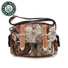 Daka Bear® mulheres sacos de ombro sacos do mensageiro do vintage ocasional bolsa senhora saco crossbody – BRL R$ 67,92