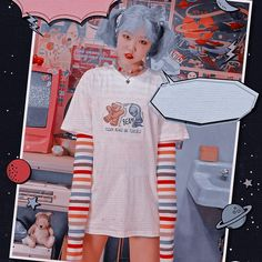 Lee Soo Hyun, Shirt Dress, T Shirt, Kpop, Instagram, Dresses, Fashion, Backdrops, Supreme T Shirt