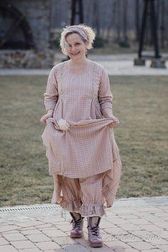 Les Ours Hose ROBERT Cotton Rose Kariert SS18   Ankleiderei   Online-Shop für skandinavische & französische Mode