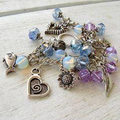 Artisan Handmade Silver Charm Lavender Blue Crystal by MystiqueCat, $18.00