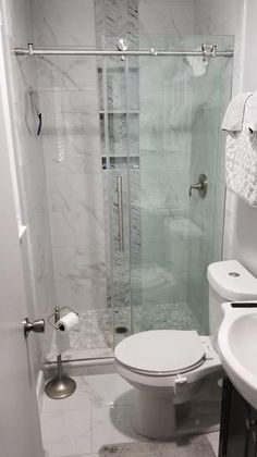 DreamLine Enigma-X 44 in. to 48 in. x 76 in. Frameless Sliding Shower Door in Brushed Stainless - The Home Depot - Bathroom Ideas Small Bathroom Layout, Small Bathroom With Shower, Modern Bathroom, Master Bathrooms, Small Showers, Small Basement Bathroom, Shower Mirror, Eclectic Bathroom, Minimal Bathroom