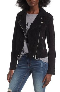 80fa7413 BlankNYC Black Suede Leather Moto Asymmetrical Motorcycle Jacket Size 12  (L) - Tradesy