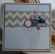 Make your own Chevron pattern using a square punch!
