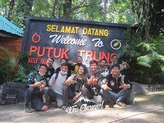 Welcome To Putuk Truno Waterfall on Pasuruan, East Java, Indonesia.