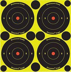 "Pkg of 12 Birchwood Casey 48 3/"" Bullseye Shoot-N-C Targets Spots Self Adhesive"