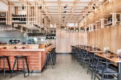 Biasol has looked to Japanese craftsmanship and materiality to create a contemporary design inspired by Tokyo's izakaya bars.  #brick #interiordesign #architecture #cafeinspo #hospitality #hospitalitydesign #cafe #australiandesign