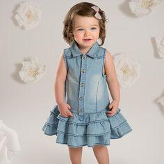 dave bella d'é fille princesse robe bé denim bleu robe enfants d'anniversaire vê Baby Girl Dresses Fancy, Girls Denim Dress, Sleeveless Denim Dress, Baby Dress, Girls Dresses, Casual Dresses, Toddler Dress, Toddler Girl, Infant Toddler