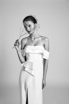 "Chic and elegant. ""Cherry"" is the perfect silk wedding dress from the Alon Livne 2018 bridal gown collection. #weddingdresses #bridalgowns #weddingdressinspiration #romanticweddingdress #alonlivne"