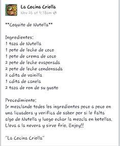 Coquito de Nutella mmm enjoy