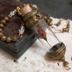Beatrice Vessel - Quartz Crystal Vial Necklace by Parrish Relics