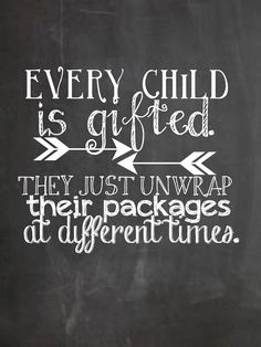 Chalkboard Quote-Every Child is Gifted