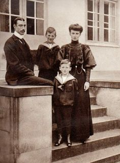 King Christian X and Queen Alexandrine of Denmark with their two sons, the future King Frederik IX (in back) and Prince Knud (in front)