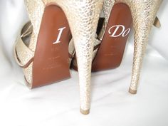I Do Shoe Stickers. White. Light Blue. Pink. Black. Bride Gift. Wedding I Do Stickers.. $4.95, via Etsy.