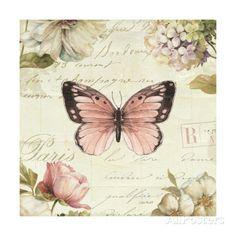 Marche de Fleurs Butterfly I Gicléedruk van Lisa Audit bij AllPosters.nl