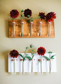 5 Test Tube Hanging Bud Vase with Gorgeous Polished by CopperIvy