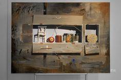 En el Estante - Óleo s/lienzo 170 x 130 cms