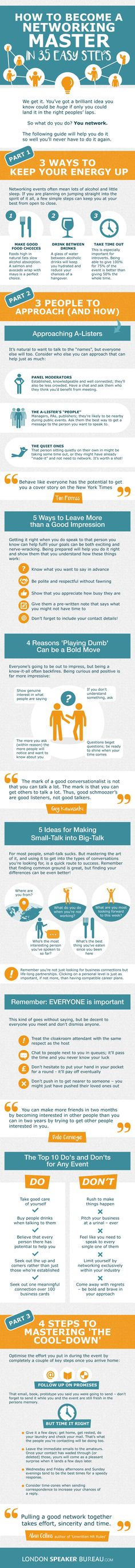 How to Become A Networking Master in 35 Easy Steps #Infographic #HowTo #IT