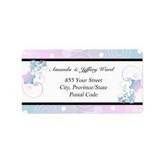 Wedding Address Label   Bubble Star Fairy Tale