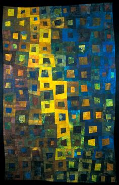 "image of quilt titled ""Star Fall; by Janet Kurjan"