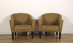 "A pair of Josef Hoffmann ""Villa Gallia"" club chairs,  made by Whittmann Austria  Estimate $ 1,500-2,000 Maynards Industries - Fine Art & Antiques Auction: March 25th 2015 www.maynardsfineart.com"