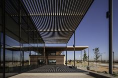 Rammed Earth Walls and Louvered Canopies Protect Craigieburn Library From the Intense Australian Sun