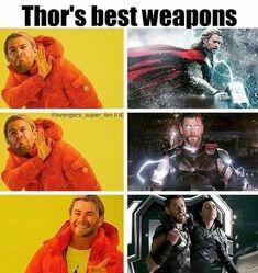 Thor's hammer lightning thunder Thor and Loki - Meme Shirts - Ideas of Meme Shir. - Thor's hammer lightning thunder Thor and Loki – Meme Shirts – Ideas of Meme Shirts - Avengers Humor, The Avengers, Marvel Jokes, Films Marvel, Funny Marvel Memes, Dc Memes, Loki Meme, Funny Movie Memes, Cartoon Memes