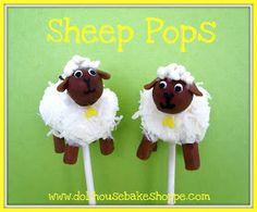 Dollhouse Bake Shoppe: Marshmallow Sheep Pops