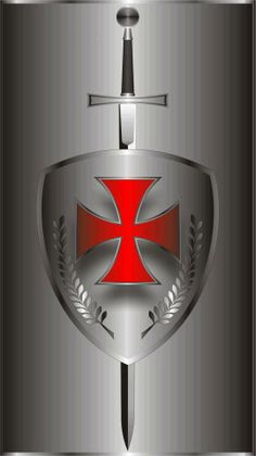 templar shield and cross