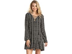 Rock and Roll Cowgirl D4-4518 Long Sleeve Dress in Black - Cowgirl Delight