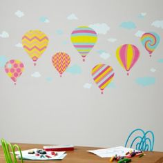 Balloon Race Wall Decals (Girl)  | Crate and Barrel