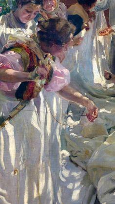 joaquin sorolla y bastida - Sowing the Sail (detail)